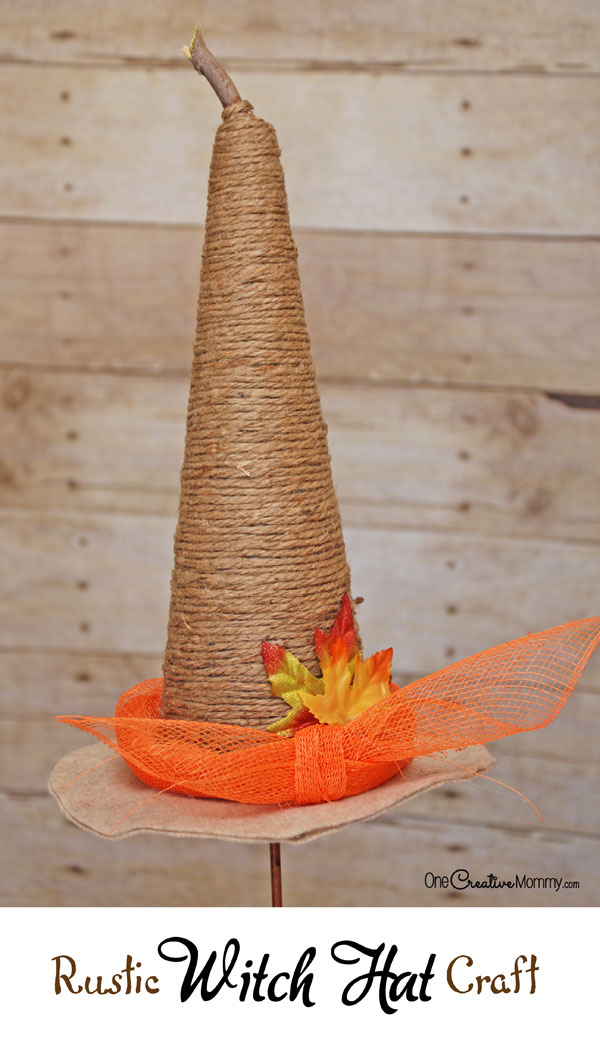 Rustic Witch Hat Tutorial Onecreativemommy Com