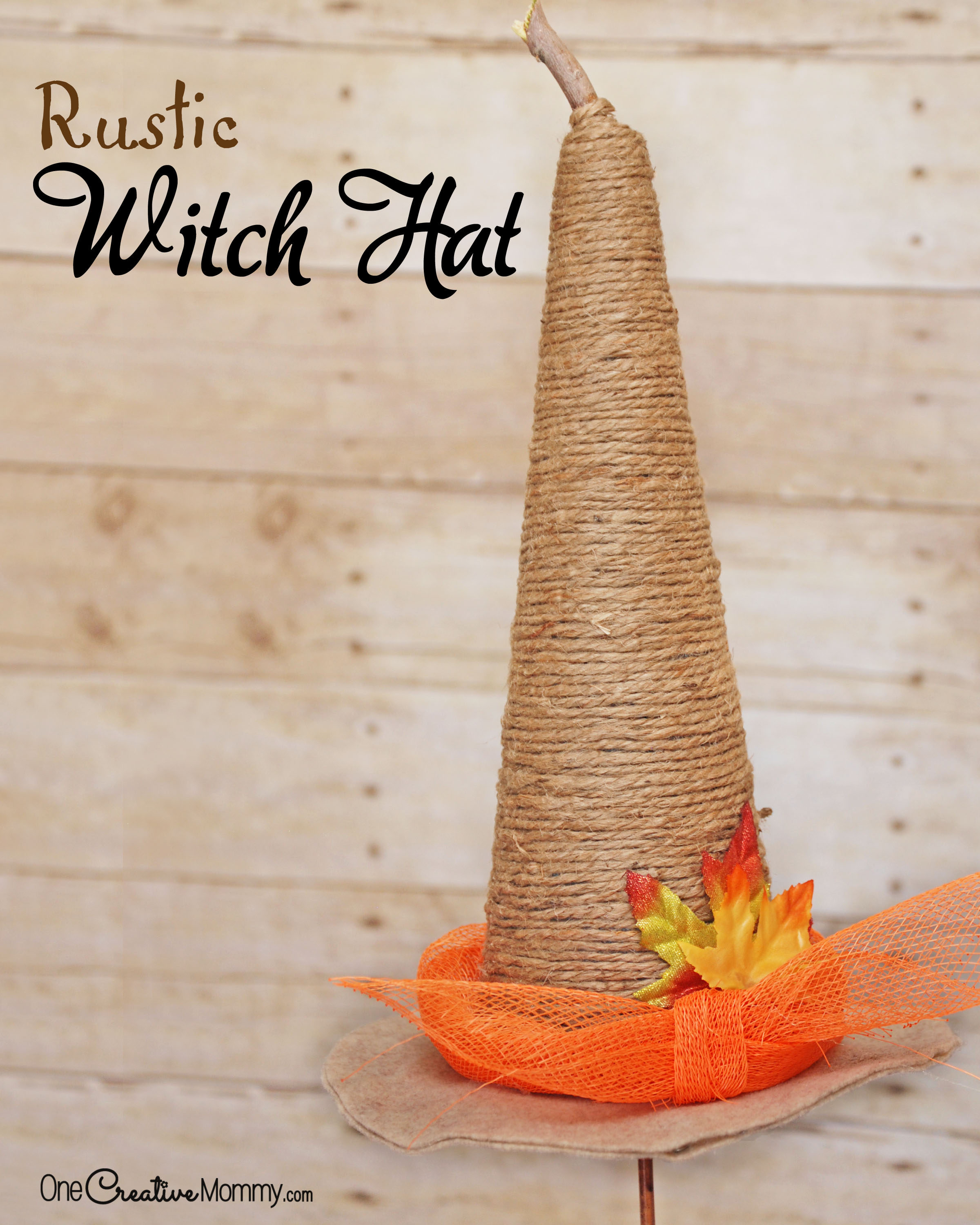 Rustic Witch Hat Tutorial