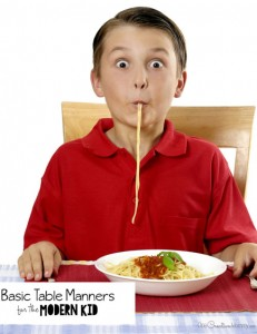 Basic table manners every kid should know