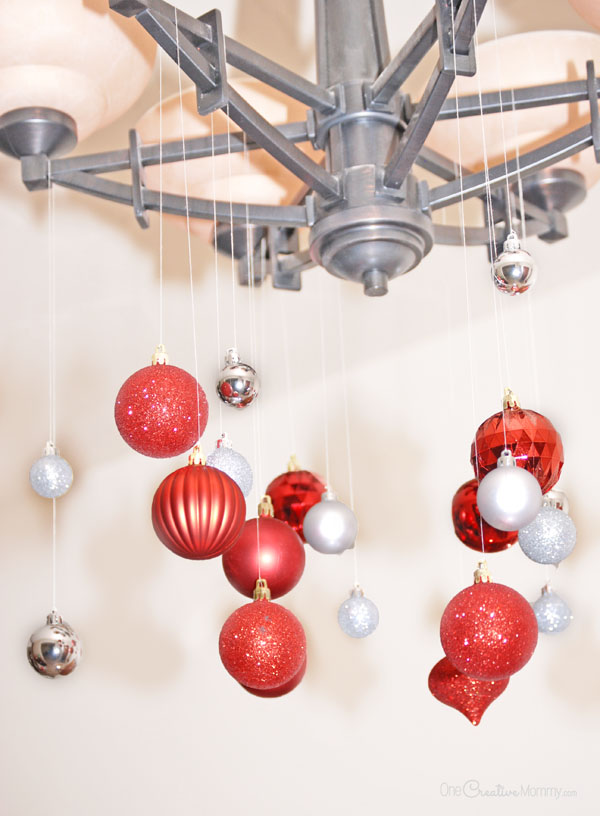 Amazing Turn an ordinary light fixture into a beautiful Christmas chandelier in just a few minutes