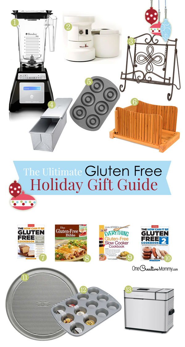 The Ultimate Gluten Free Holiday Gift Guide | 25 perfect gift ideas for your gluten free friends and family! {OneCreativeMommy.com}