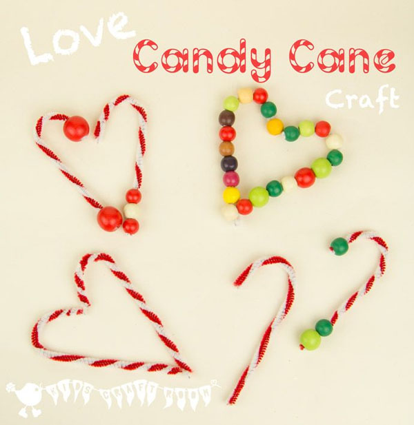 Candy Cane Ornaments |Featured with 33+ Handmade Christmas Ornaments to Make with Your Kids! {OneCreativeMommy.com}