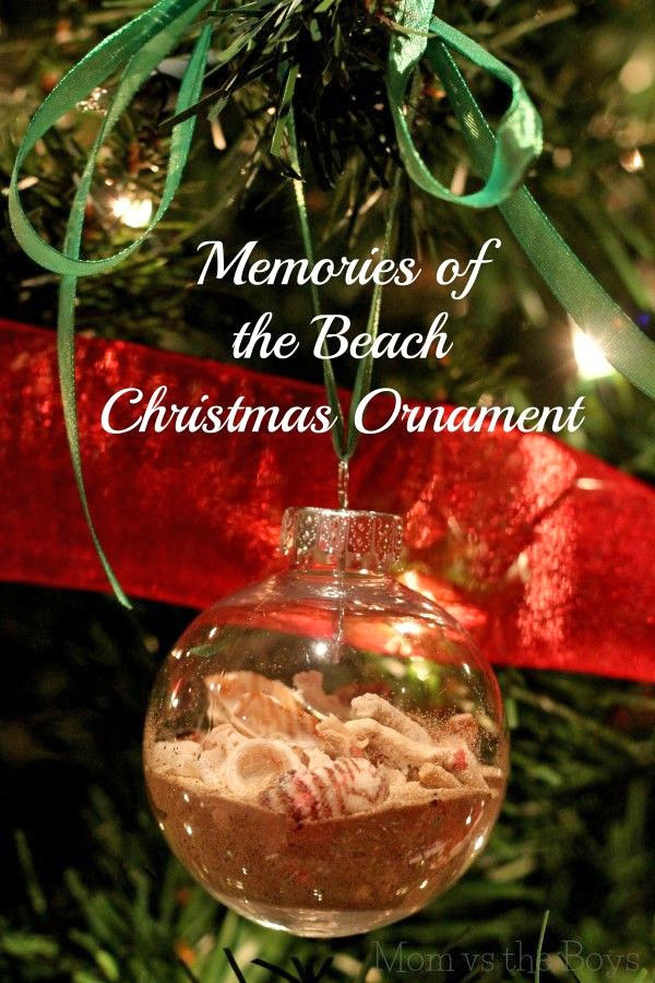 Beach Memories Ornament |Featured with 33+ Handmade Christmas Ornaments to Make with Your Kids! {OneCreativeMommy.com}