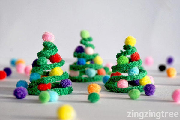 adorable pipe cleaner christmas trees kids craft featured with 33 handmade christmas ornaments to - Kids Christmas Ornaments