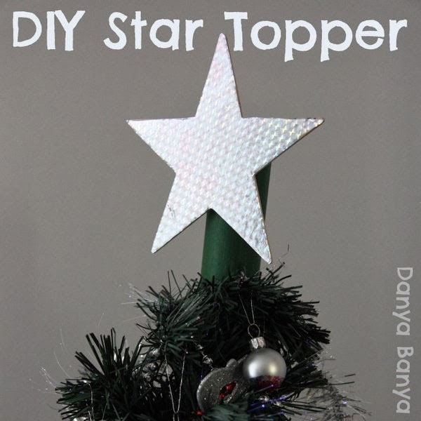 DIY Star Tree Topper|Featured with 33+ Handmade Christmas Ornaments to Make with Your Kids! {OneCreativeMommy.com}
