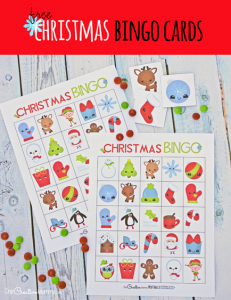 The cutest free Christmas Bingo Boards!