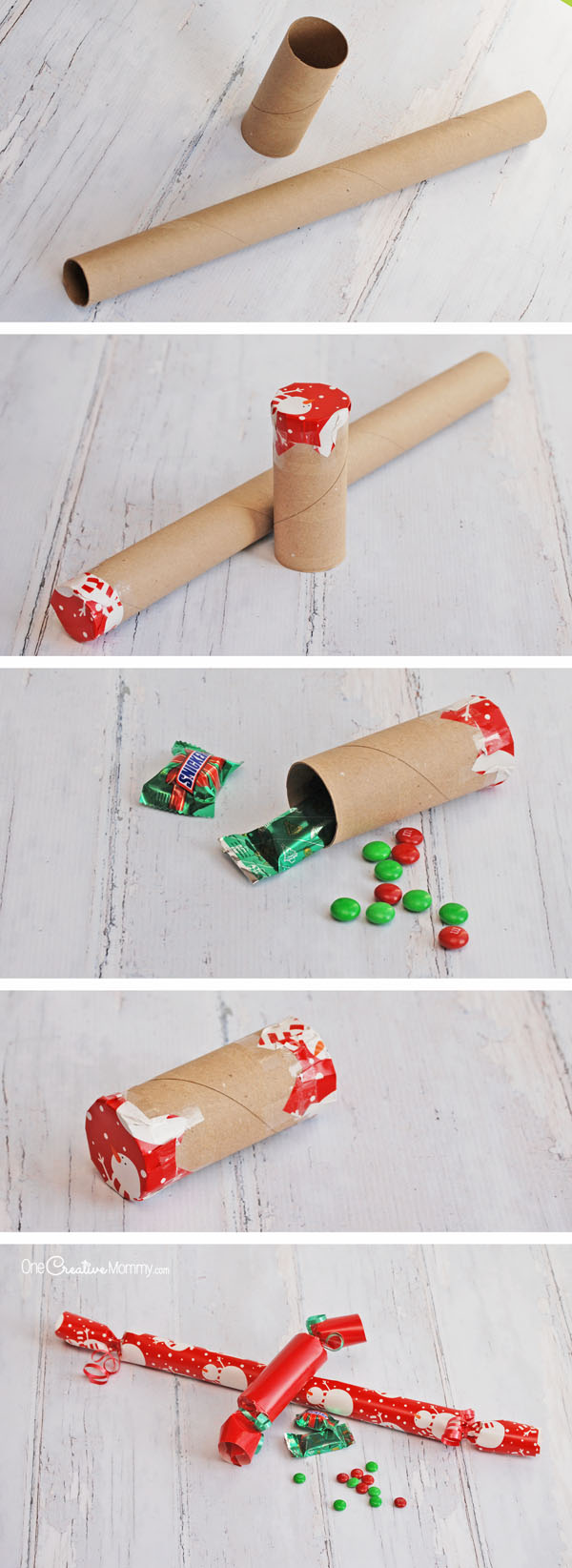 how to make christmas crackers a fun and easy stocking stuffer idea onecreativemommy