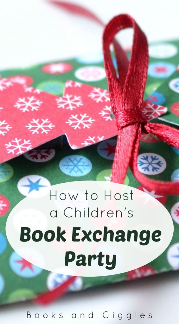 How to Host a Children's Book Exchange Party | Featured with 29 Awesome Classroom Christmas Party Ideas {OneCreativeMommy.com}