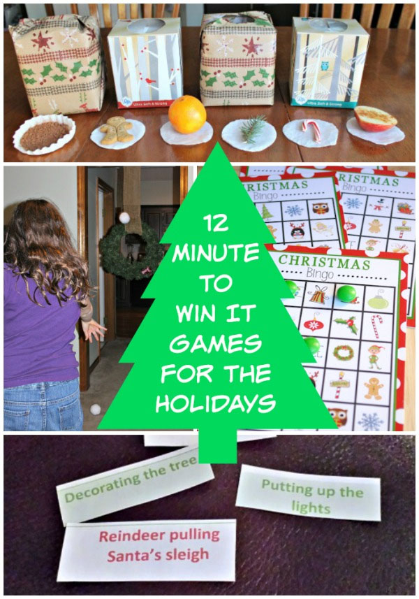 12 Minute to Win It Holiday Party Games | Featured with 29 Awesome Classroom Christmas Party Ideas {OneCreativeMommy.com}