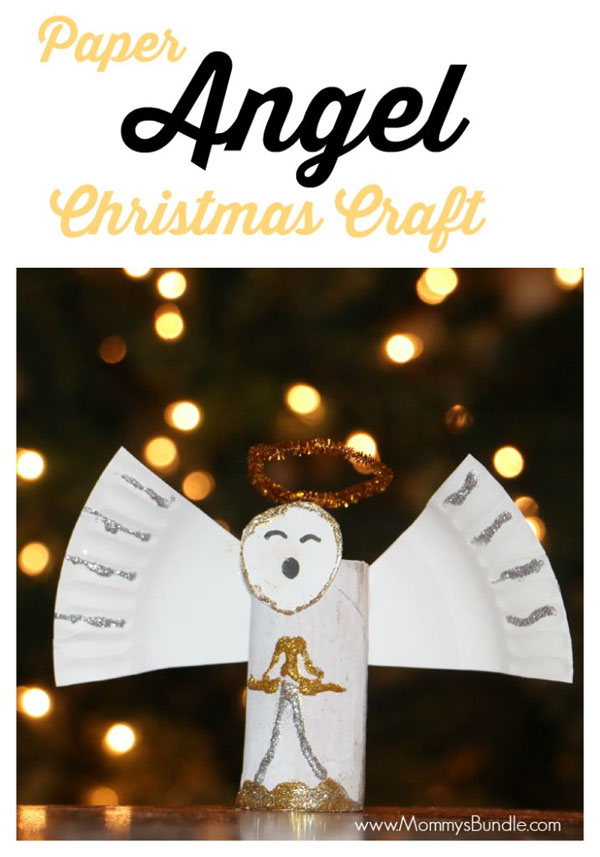 Paper Angel Craft | Featured with 29 Awesome Classroom Christmas Party Ideas {OneCreativeMommy.com}