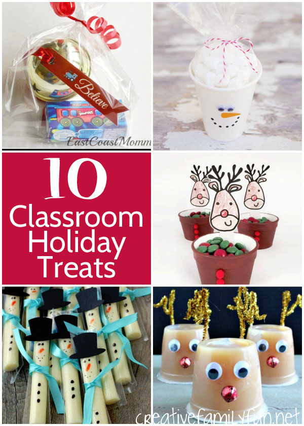 Classroom Holiday Treat Ideas | Featured with 29 Awesome Classroom Christmas Party Ideas {OneCreativeMommy.com}