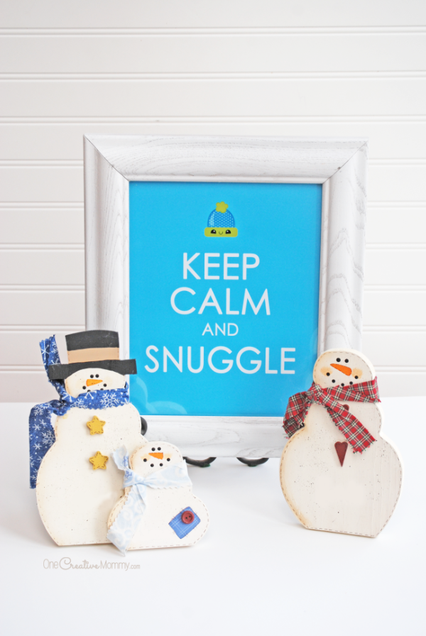 Warm up your home with this adorable free print {OneCreativeMommy.com} #keepcalm #winterdecor #freeprintable