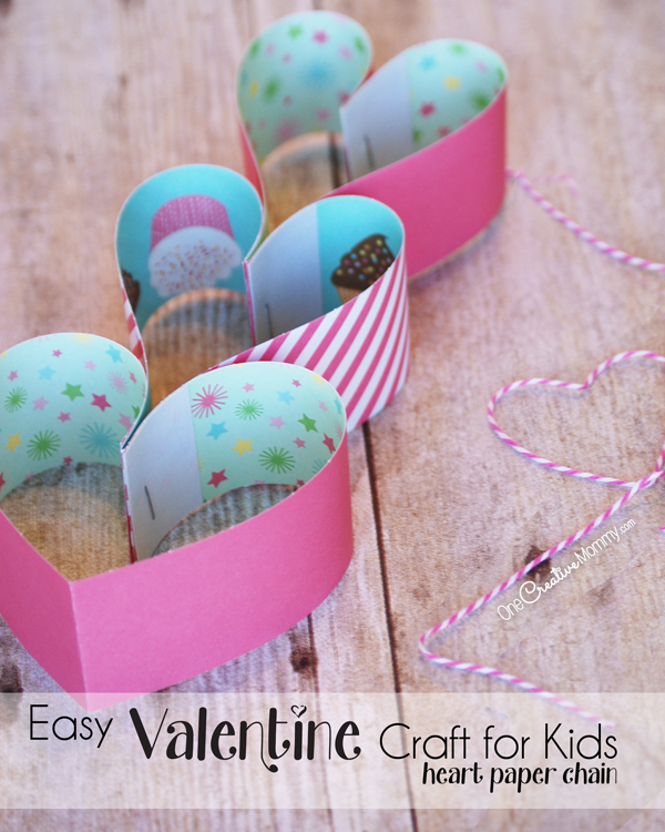 Paper Heart Chain Crafts