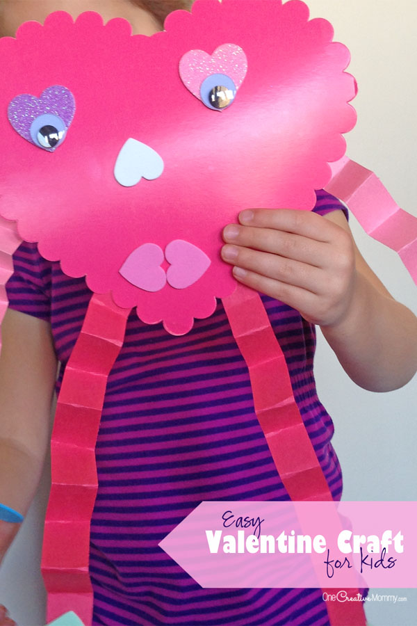 Easy Valentine Craft For The Non Crafty Onecreativemommy