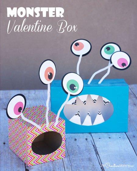 Valentine Box Ideas: Big-Eyed Monsters!