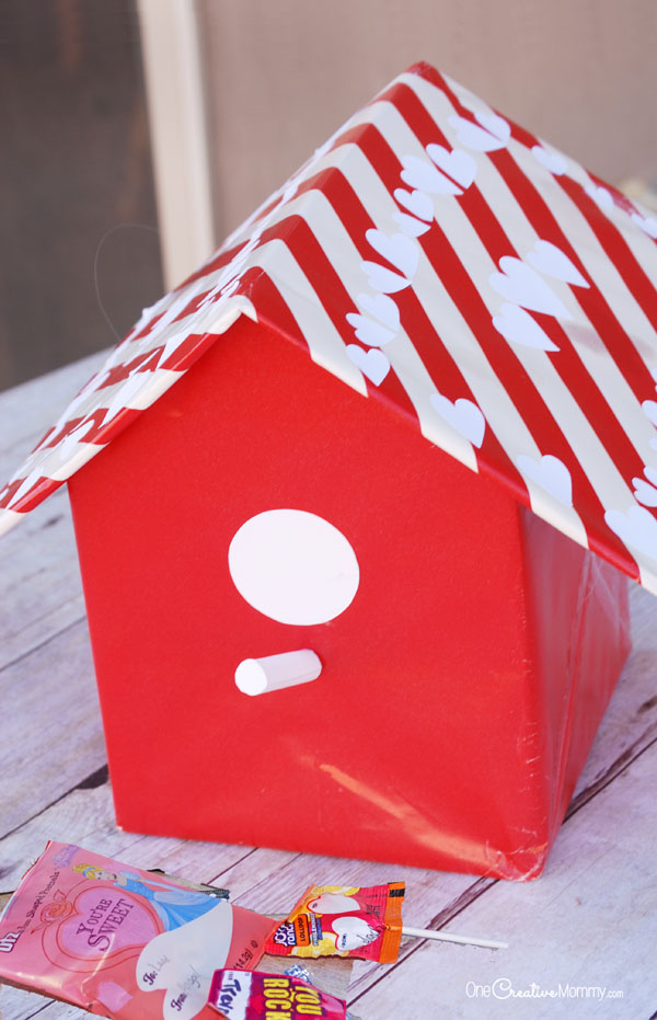 Valentine Box Ideas Birdhouse Onecreativemommy Com