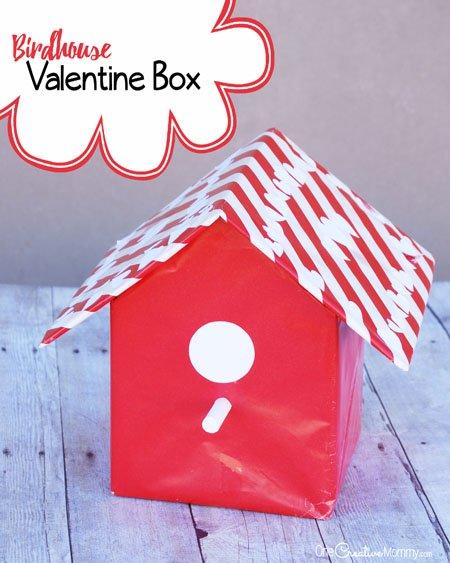 Valentine Box Ideas Birdhouse