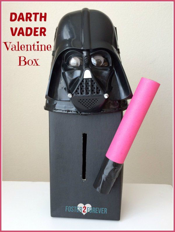 Darth Vadar Valentine Box | Featured with 25 Awesome Valentine Box Ideas to Rock the Class Party! {OneCreativeMommy.com}