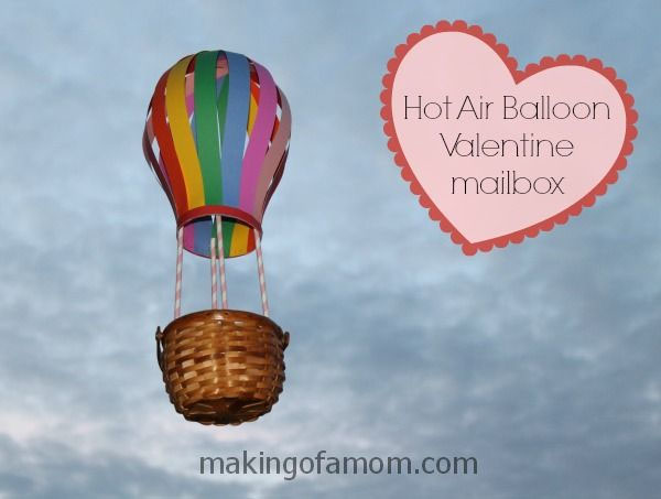 Hot Air Balloon Valentine Box | Featured with 25 Awesome Valentine Box Ideas to Rock the Class Party! {OneCreativeMommy.com}
