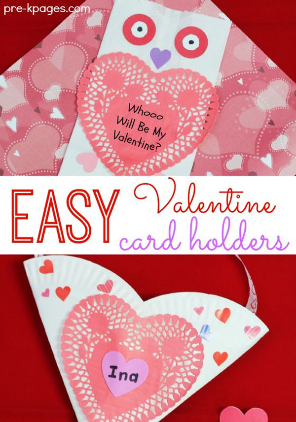 Easy Valentine Card Holders from Paper Plates | Featured with 25 Awesome Valentine Box Ideas to  sc 1 st  OneCreativeMommy.com & Valentine Box Ideas to Wow the Class! - onecreativemommy.com