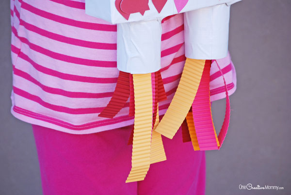 Love this Rocket Booster Valentine Box Idea! {OneCreativeMommy.com}