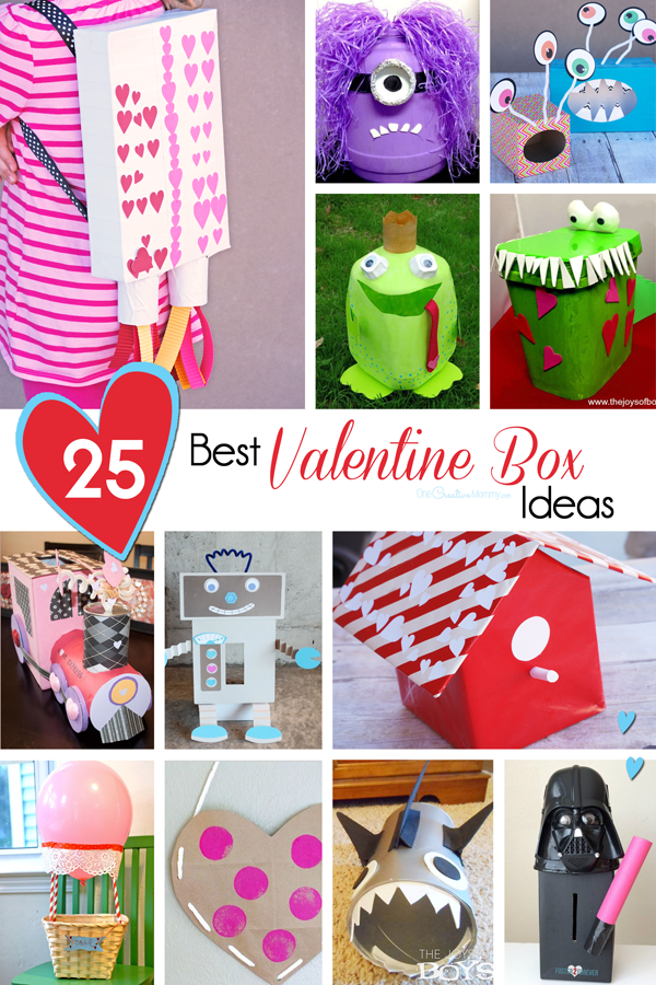 Looking for the perfect Valentine Box idea? Check out over 25 awesome ideas to rock the class party! {OneCreativeMommy.com}