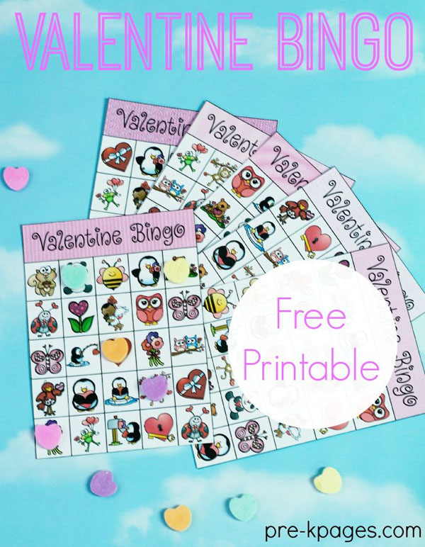 Valentine Bingo Printable | Featured in 25+ Awesome Valentine Class Party Ideas Roundup {OneCreativeMommy.com}