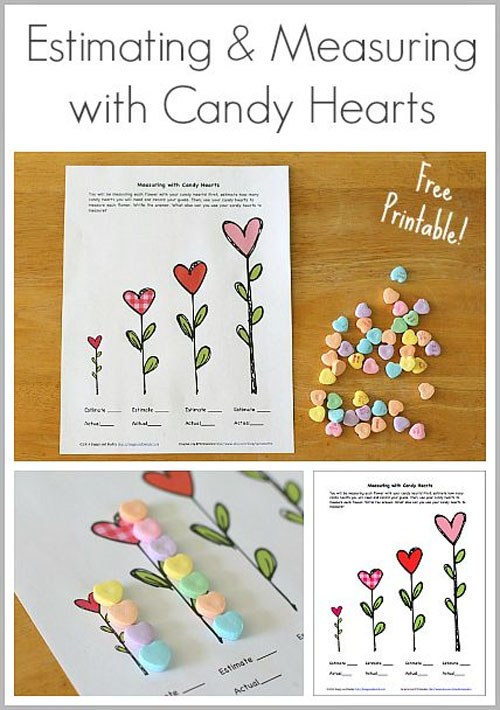 Estimating with Candy Hearts Activity | Featured in 25+ Awesome Valentine Class Party Ideas Roundup {OneCreativeMommy.com}