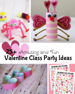 In charge of the Valentine class party this year? Check out 25+ ideas to get you started with games, crafts, printables and more! {OneCreativeMommy.com}