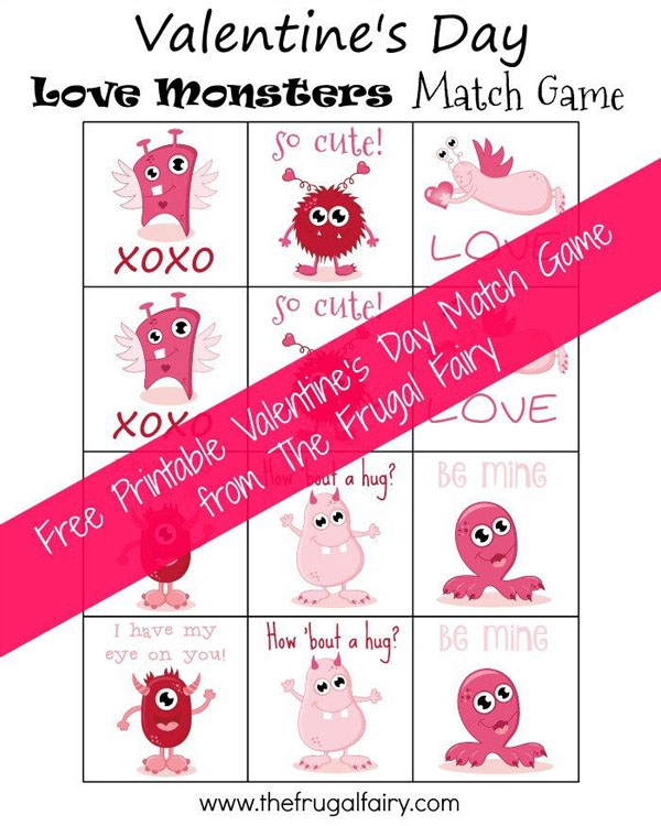 Valentine Match Game | Featured in 25+ Awesome Valentine Class Party Ideas Roundup {OneCreativeMommy.com}
