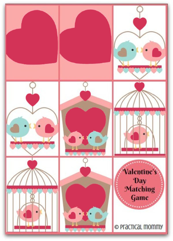 Valentine Matching Game | Featured in 25+ Awesome Valentine Class Party Ideas Roundup {OneCreativeMommy.com}