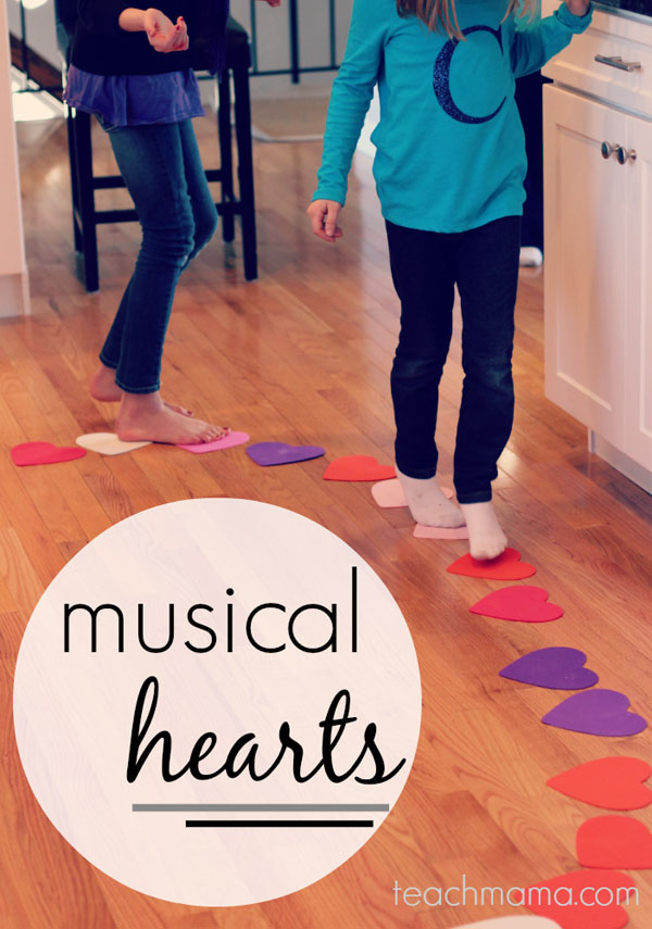 Musical Hearts Game | Featured in 25+ Awesome Valentine Class Party Ideas Roundup {OneCreativeMommy.com}