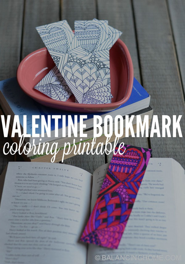 Valentine Bookmark Printable | Featured in 25+ Awesome Valentine Class Party Ideas Roundup {OneCreativeMommy.com}
