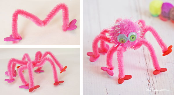 Oh, my goodness! This Valentine spider is adorable! Valentine Love Bugs Craft {OneCreativeMommy.com}