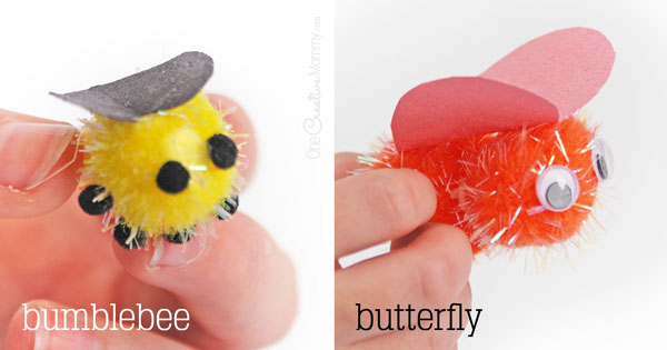 Love Bugs Valentine Craft Idea {OneCreativeMommy.com}