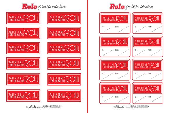 image regarding Printable Valentines known as Rolos Printable Valentines