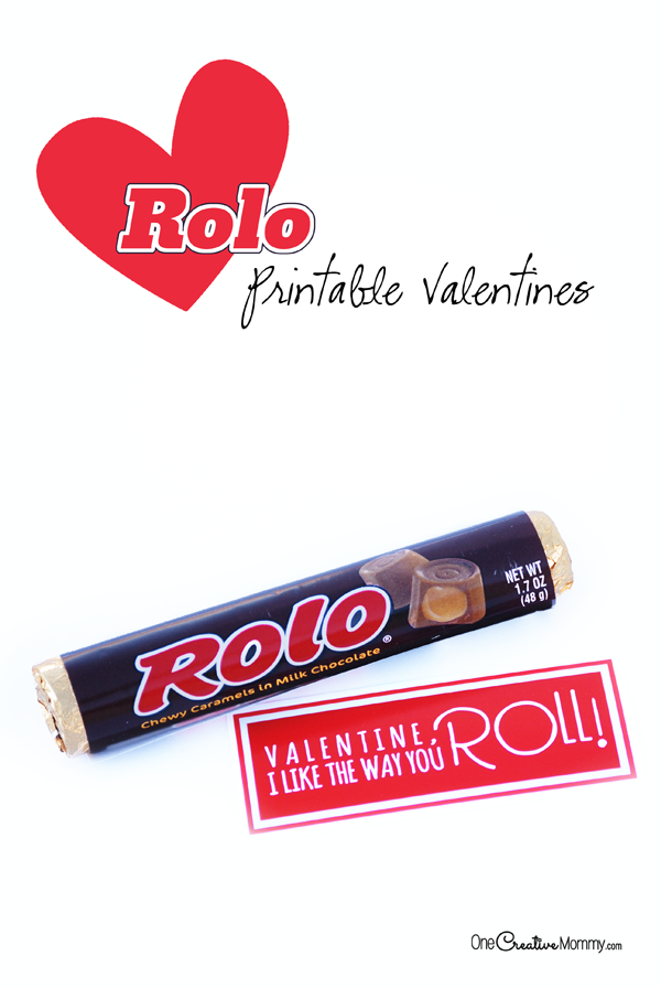 I like the way you roll, Valentine! Free printable Valentines for Rolos candy. {OneCreativeMommy.com} #printablevalentine #classroomvalentine #valentine