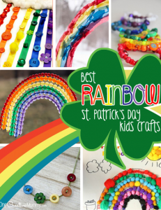 Look here for the best Rainbow St. Patrick's Day Kids Crafts! {OneCreativeMommy.com} 17+ fun and engaging crafts for kids!