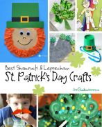 Best Shamrock Crafts and Leprechaun Crafts for St. Patrick's Day! {OneCreativeMommy.com} Kids Crafts