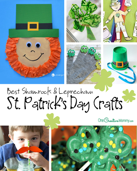 st patricks day crafts best leprechaun and shamrock crafts onecreativemommy 5486