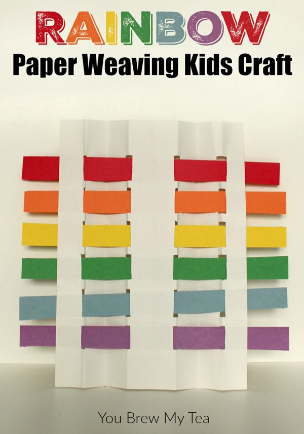 Rainbow Paper Weaving | Featured in the Best St. Patrick's Day Crafts for Kids Roundup!{OneCreativeMommy.com}