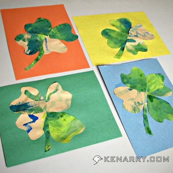 Easy Shamrock Painting for Toddlers | Featured in the Best St. Patrick's Day Crafts for Kids Roundup!{OneCreativeMommy.com}