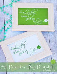 St. Patrick's Day Printable {Lucky!}