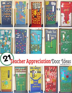 Teacher Appreciation Week is coming! Check out 21 Awesome Teacher Appreciation Door Ideas {OneCreativeMommy.com} Which one is perfect for your teacher's door?