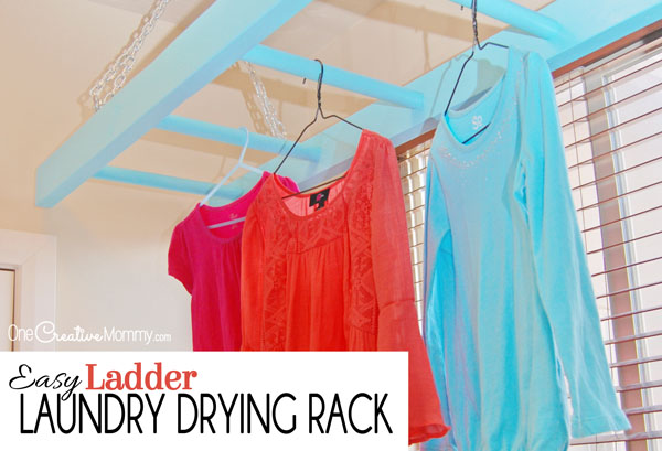 Make This Easy Ladder Laundry Drying Rack