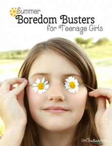 Got bored teens? Check out these awesome boredom buster ideas for teenage girls! {OneCreativeMommy.com} 41 ideas ready to print for a Summer Boredom Buster Jar