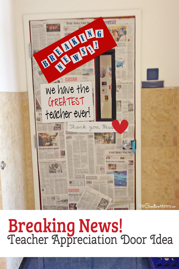 Classroom Newspaper Ideas : Awesome teacher appreciation door ideas