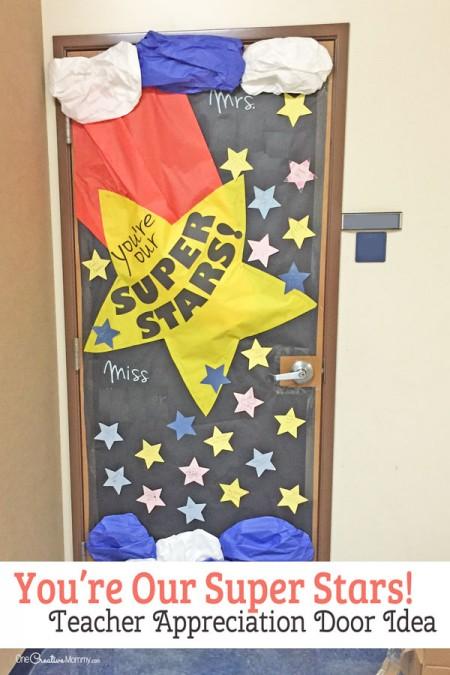 Super Star Teacher Door Decorating Idea Featured With 21