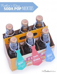 Easy Father's Day Gift Idea: Soda Pop Neckties