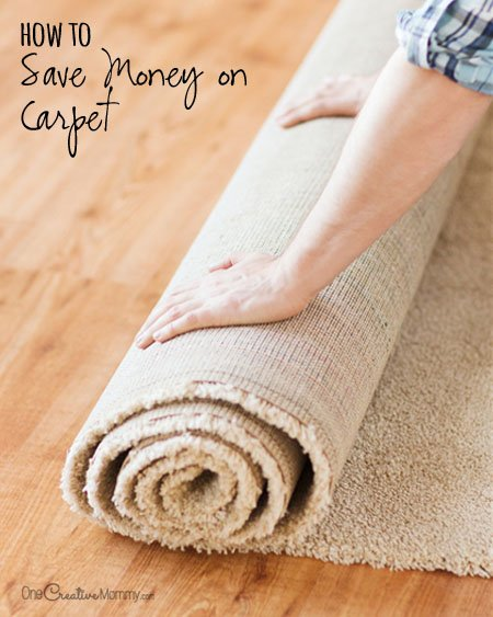 Getting new carpet? Before you buy, check out these money-saving tips so you won't break the bank! {OneCreativeMommy.com} How to Save Money on Carpet | Frugal Tips!